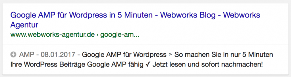 AMP in Google Searps