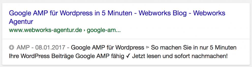 AMP in Google Searps