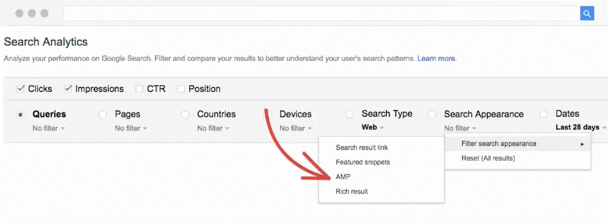 Featured Snippets Filter in der Search Console